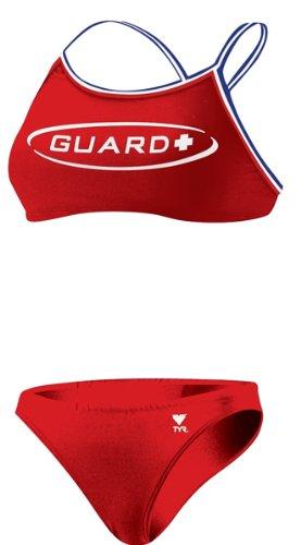 (TYR Guard Dimaxback Workout Bikini, Red, X-Small)