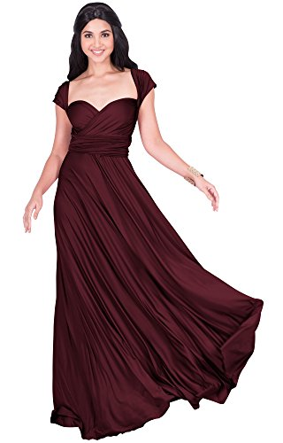 KOH KOH Womens Long Bridesmaid Multi-Way Wedding Convertible Wrap ...