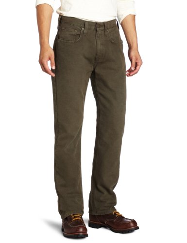 Jeans Carhartt Canvas (Carhartt Men's Weathered Duck 5 Pocket Pant Relaxed Fit,Dark Coffee  (Closeout),36 x 32)