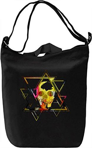 Skull With Triangles Borsa Giornaliera Canvas Canvas Day Bag| 100% Premium Cotton Canvas| DTG Printing|