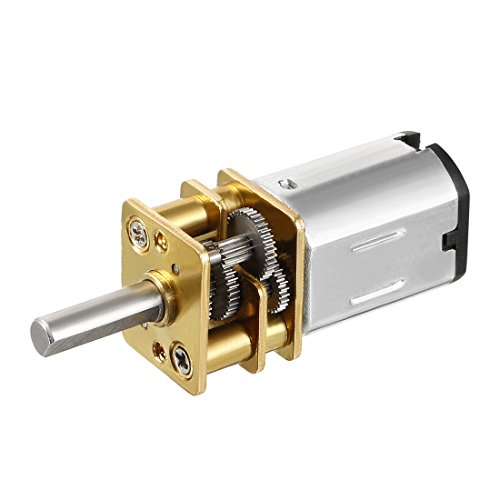 uxcell Micro Speed Reduction Motor DC 3V 15RPM with Full Metal Gearbox 0.15A Electric Gear Box Motor with 2 Terminals for DIY RC Toys
