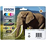 Epson 24XL Serie Elefante Cartuccia Originale, Multipack, XL, 6 Colori