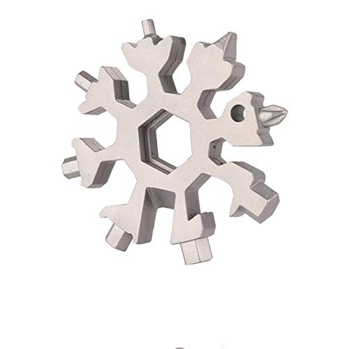 ROSE KULI Snowflakes Multitools - 18 in 1 Multi Tools Portable Wrench Screwdriver Pocket Multi-Tools for Open Key, Silver by ROSE KULI (Image #5)