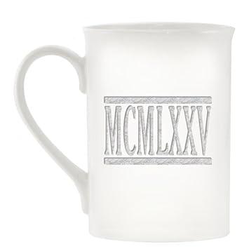 Año De Nacimiento Números Romanos 1975 Mcmlxxv Diseño Taza De