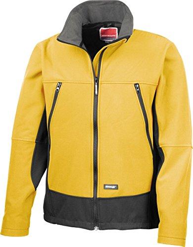 Result Herren Poloshirt Mehrfarbig Marineblau / Schwarz XX-Large Gr. XXL, Sport Yellow/ Black