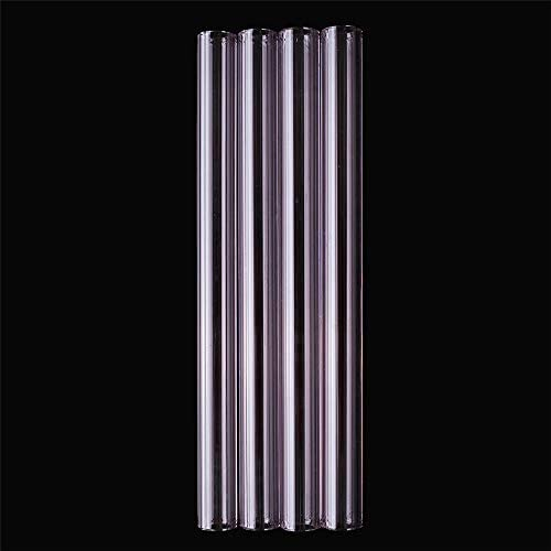 Queenwind の12ミリメートルの透明な紫色のホウケイ酸塩ガラス管のパイレックスの管は管のテスト管 12mm OD 2.2 厚い壁を吹き飛ばす