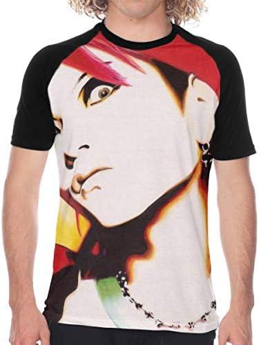 X JAPAN Hide ラグラン 半袖 カジュアル 格好いい プリント 通学 男性 Tシャツ メンズ 野球ユニフォーム