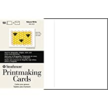Strathmore 105-233 Printmaking Cards, Full Size, Heavyweight, 50 Cards & Envelopes