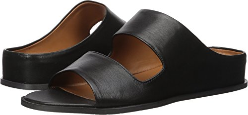 Aquatalia Women's Abbey Soft Nappa Flat Sandal, Black, 6.5 M M US