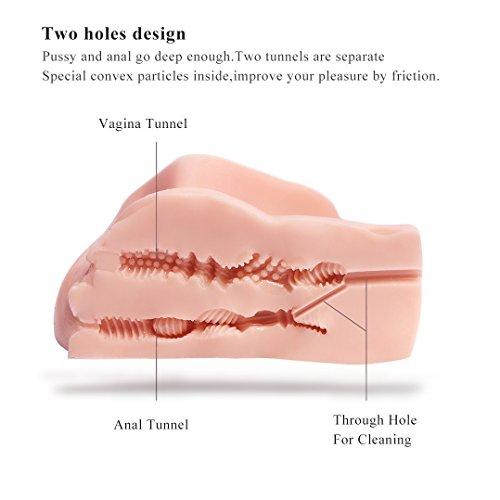 Life Size Virgin Pussy Anal Ass Doll,SINLOLI 3D Realistic Male Masturbator Vagina Anus Butt Sex Toys for Male Masturbation