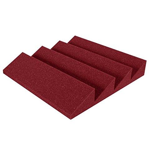 """Auralex Acoustics Sound Damping Products Burgundy Studiofoam Panels 12"""" x 12"""" x 2"""" DST114BUR24"""
