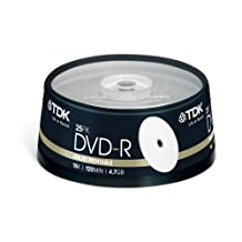 DVD-R TDK [ cake box 25 | 4.7GB | 16x | Extra Fine Matt ]