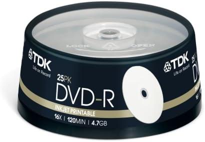 TDK DVD-R 4.7GB (25 Pack) - Pack 25 DVD-R 4,7 GB: Amazon.es: Informática