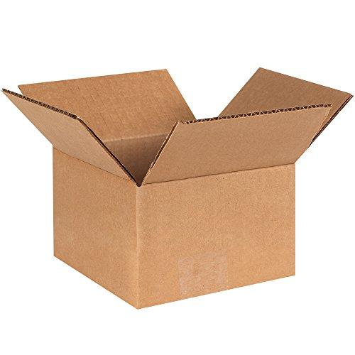 """BOX USA B664500PK Corrugated Boxes, 6""""L x 6""""W x 4""""H, Kraft (Pack of 250) from BOX USA"""