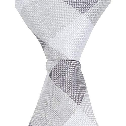 The Matching Tie Guy Men/Boys Microfiber Skinny Gray Diamond Plaid Neckties in All Sizes ST5 ()