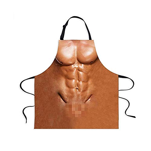 Fivebop Sexy Apron Novelty Naked Men Women Cooking Grilling Naughty Apron Funny Creative Thanksgiving Christmas Gifts (Men 2) by Fivebop