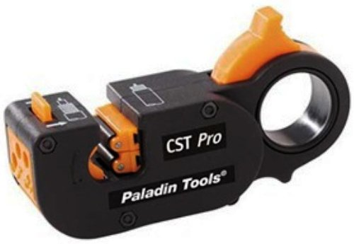 Greenlee  1281 CST Pro Coax Stripper 3 Level, Orange Cassette .327/.146 ()