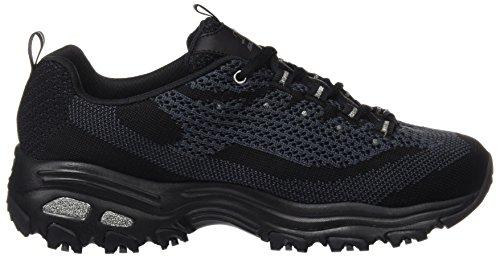 Bbk WoMen Skechers Sneakers Top Black Low D'Lites xYqq71w6d