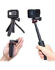 Extendable Selfie Stick for Gopro, Portable Vlog Selife Stick Tripod Stand for Gopro Hero 8/7/6/5 Black/Gopro Max DJI Osmo Action Insta 360 Action Camera Accessory Kits