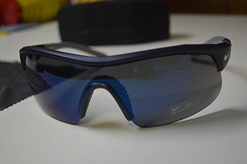 Nike Show X1 Pro Sunglasses, Black, Grey/Orange Flash Lens by NIKE