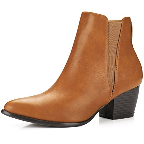 Brown Allegra Chelsea Pointed Boots Ankle Heel K Women's Toe qxf86qaFw