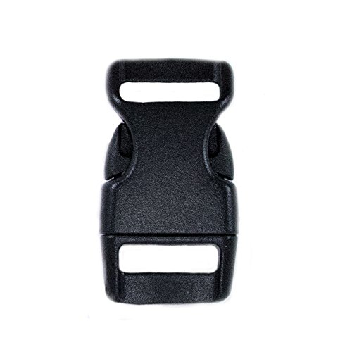 Paracord Planet Brand Contoured Side Release Black Buckle