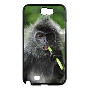 Diy Cute Monkey Phone Case for samsung galaxy note 2 Black Shell Phone JFLIFE(TM) [Pattern-1]