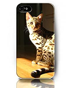 Lovely Cat Pattern Theme - UKASE Special Designed Case for iPhone 4 4s - Spotted Cat