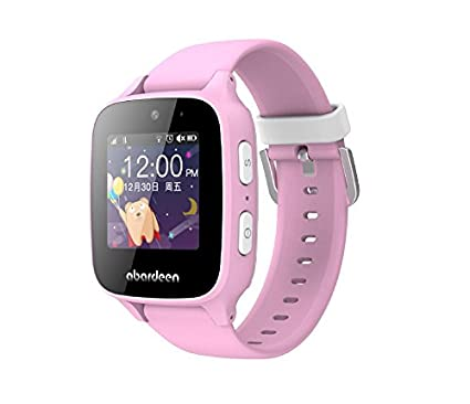 Amazon.com: Abardeen Kids Smart Watch 2G GPS GSM Phone Watch with Camera for Girls Boys Anti Lost SOS Waterproof Support Android iOS (Pink): Cell Phones & ...