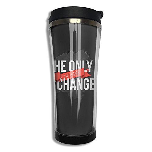 EQQ Change Flip Top Lid Double Wall Stainless Steel Mug Hot Cold Tumbler With Liquid Tight Travel Mug Vacuum Sealed Tumbler Drink Bottle (Zanzibar Leopard)