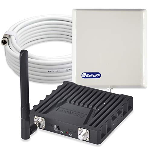 SolidRF Cell Phone Signal Booster Kit for AT&T Verizon T-Mobile Sprint up to 3000 Sq Ft - Enhance Your 2G/3G/4G LTE ()