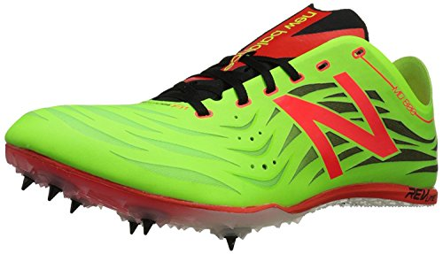 New Balance Mens MD800V4 Track Spike Shoe, Lime/Red, 42.5 EU/8.5 UK