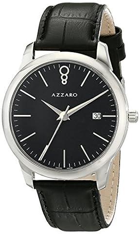 Azzaro Men's AZ2040.12BB.000 Legend Analog Display Swiss Quartz Black Watch (Azzaro Men Quartz)