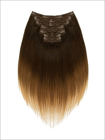LORD & CLIFF SEVEN PIECE STRAIGHT REMY HAIR CLIP IN EXTENSION 20'' BLONDE BROWNIE by Lord and Cliff