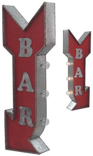 "Crystal Art Sign of the TImes Off The Wall LED Lighted Bar Arrow Sign, 10"" x 30"""