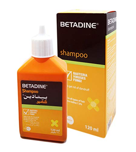 (BETADINE Shampoo Dandruff Scalp Care for All Hair Types (1 Pack / 120)