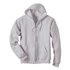 Hanes Men's ComfortBlend EcoSmart Full-Zip Hoodie, Ash, 2XL US