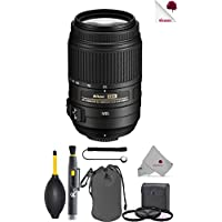 Nikon AF-S DX NIKKOR 55-300mm f/4.5-5.6G ED VR Lens (2197) USA - Full Accessory Basic Lens Bundle Package Deal