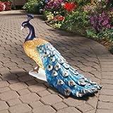 Classic Peacock Plumage Home Garden Sculpture Statue