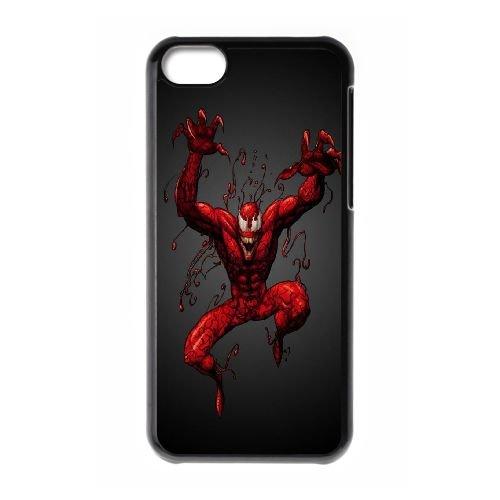 F0M31 Carnage P6E4VX cas d'coque iPhone de téléphone cellulaire 5c couvercle coque noire KJ4EYM3JO