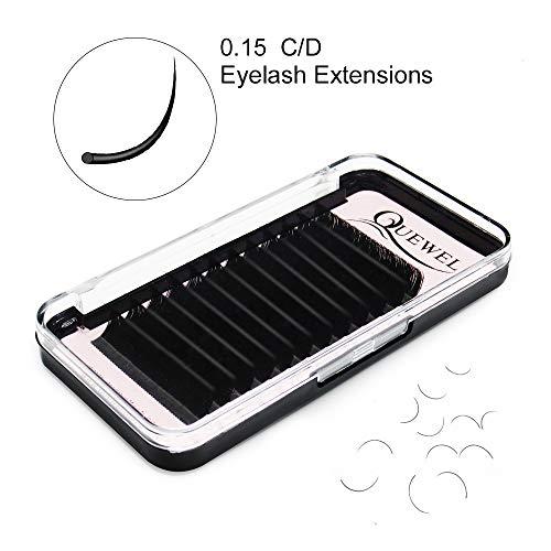 Eyelash Extensions 0.15mm D Curl Length 16mm Lash Extension Supplies Matte Black Individual Eyelashes Salon Use C/D Curl Length Single 8-18mm Mix 8-15mm 