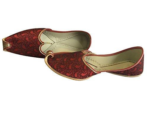 Schritt N Style Herren Mehroon Khussa Schuhe Panjabi jutti indischen ethnischen mojari pakistanischen Hochzeit Schuhe Braun