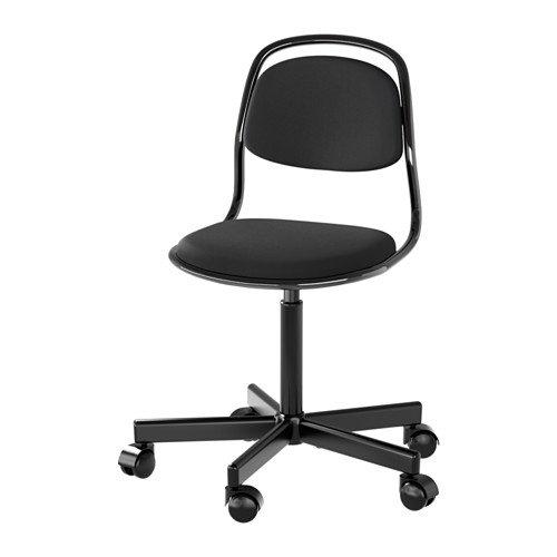 Ikea Junior chair, black, Vissle black 428.8232.2638 by IKEA