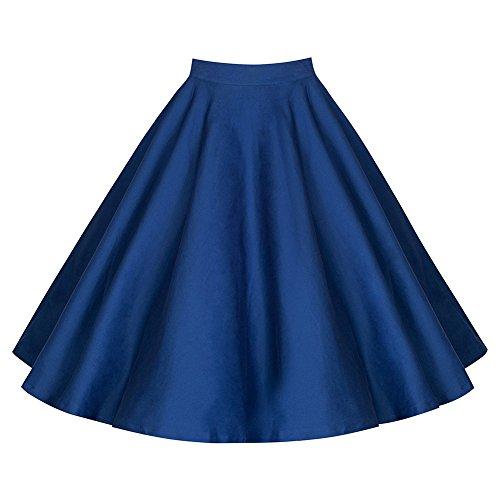 WintCO Mujer Retro Falda plegable Cintura alta Impresión plisada Mini Skater Falda (XL, Azul)