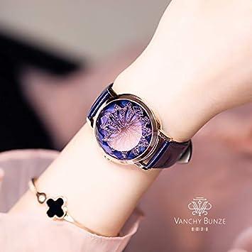 LKTGBRCVZJU Relojes Marea Rojo Neto Vibrante Tendencia de la Moda Gran dial al Correr Mujeres Reloj