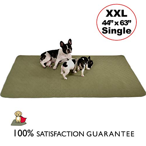 Millie Mats Washable Dog Pee Pads for Puppies, Incontinent & Senior Dogs. Leak Proof to Protect Floors. Use for Whelping, Travel Mat or Indoor Potty Pad Size 44