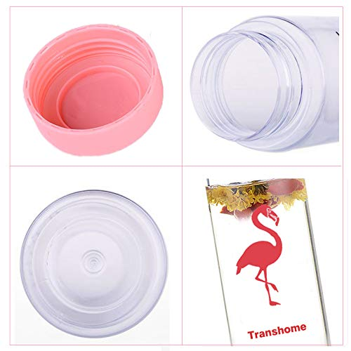 Flamingo Water Bottle 500ml Pink Plastic Portable for Water Bottles with Clear Lemon Juice Infuser for Sport Drinkware