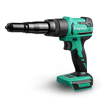 Image of Enegitech Rivet Gun, 18V Lithium-ion Automatic Cordless Blind Rivet Tool Electric Riveter with Variable Nose Pieces for 3/32', 1/8', 5/32', 3/16' Rivets(Bare Tool) Blind Rivets