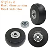 Best Rubber Wheels - 1 Pair Luggage Suitcase Replacement Rubber Wheels Review