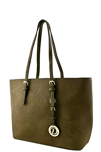 womens-designer-faux-leather-tote-bag-with-rear-zipper-pocket-va2002-olive